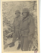 <h5>Combat</h5><p>Likely soldiers on Saar River observation duty. Photo provided by the family of Elmore Willets. </p>
