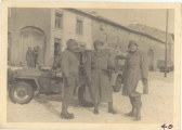 <h5>Combat</h5><p>Officers on a street in France. Photo provided by the family of Elmore Willets. </p>