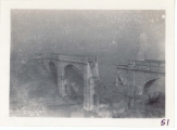 <h5>Combat</h5><p>View into Germany with rail bridge destroyed by Germans. Photo provided by the family of Elmore Willets.</p>