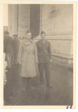<h5>Combat</h5><p>Officers on leave in Paris at the Arc de Triomphe (identities unknown). Photo provided by the family of Elmore Willets.</p>