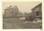 <h5>Combat</h5><p>Kerlingen, Christmas 1944 on German border. Photo provided by the family of Elmore Willets.</p>