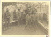 <h5>Combat</h5><p>'A Battery' gun crew. Photo provided by the family of Elmore Willets.</p>