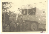 <h5>Combat</h5><p>Red Cross mobile canteen. Photo provided by the family of Elmore Willets. </p>