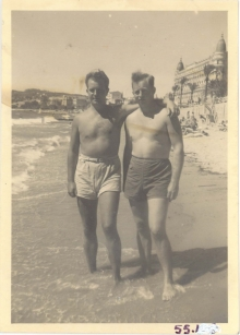 <h5>Leave</h5><p>On leave in the Riviera. Photo provided by the family of Elmore Willets. </p>