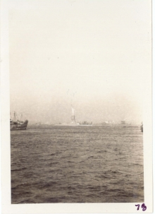 <h5>Return</h5><p>Statue of Liberty from shipboard. Photo provided by the Willets family.</p>