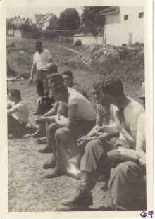 <h5>Occupation</h5><p>Baseball game. Army of Occupation (Bavaria, Germany).  Photo provided by the Willets family. </p>