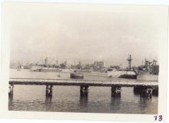 <h5>Return</h5><p>Return to the US. Photo taken of Le Havre, France (from transport vessel). Photo provided by the Willets family. </p>