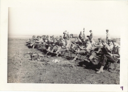 <h5>Training</h5><p>Field exercises. Photo provided by the Willets family. </p>