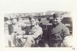 <h5>Training</h5><p>Training camp (barracks in the background). Photo provided by the Willets family.</p>