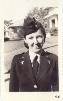 <h5>Training</h5><p>Army Nurse Lieutenant Mary Taylor. Future wife of Captain Willets, married at Camp Maxey, Texas during training. Photo provided by the Willets family.</p>