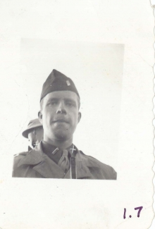 <h5>Training</h5><p>Lieutenant Elmore Willets. Photo provided by the Willets family.</p>