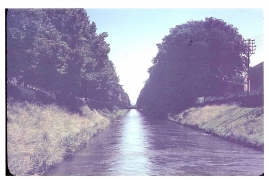 <h5>Canal</h5><p>Rare color photo of Koolbermoor, Germany. Probably taken after the war during the Occupation. Photo provided by the family of Kenneth James Taylor.</p>