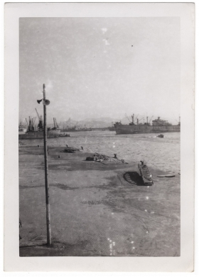 <h5>Unknown port</h5><p>Possibly the port where they arrived in Europe. Provided by the family of Ivo Schommer.</p>