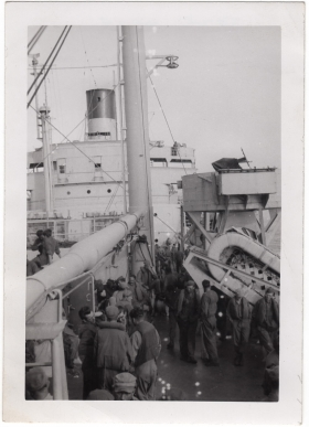 <h5>Queen Mary</h5><p>Appears to be the voyage to UK aboard Queen Mary. Provided by the family of Ivo Schommer.</p>