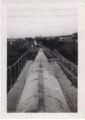 <h5>German Cannon</h5><p>Massive German cannons on rails. Provided by the family of Ivo Schommer.</p>