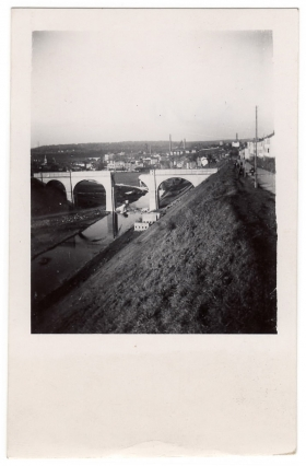 <h5>Damaged Bridge</h5><p>Downed bridge. Photo provided by family of Ivo Schommer.</p>