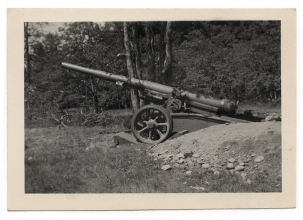 <h5>Old Cannon</h5><p>Photo of an old cannon. Photo provided by family of Ivo Schommer.</p>