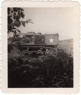 <h5>Tractor</h5><p>Tractor, possibly during training. Photo provided by family of Ivo Schommer.</p>